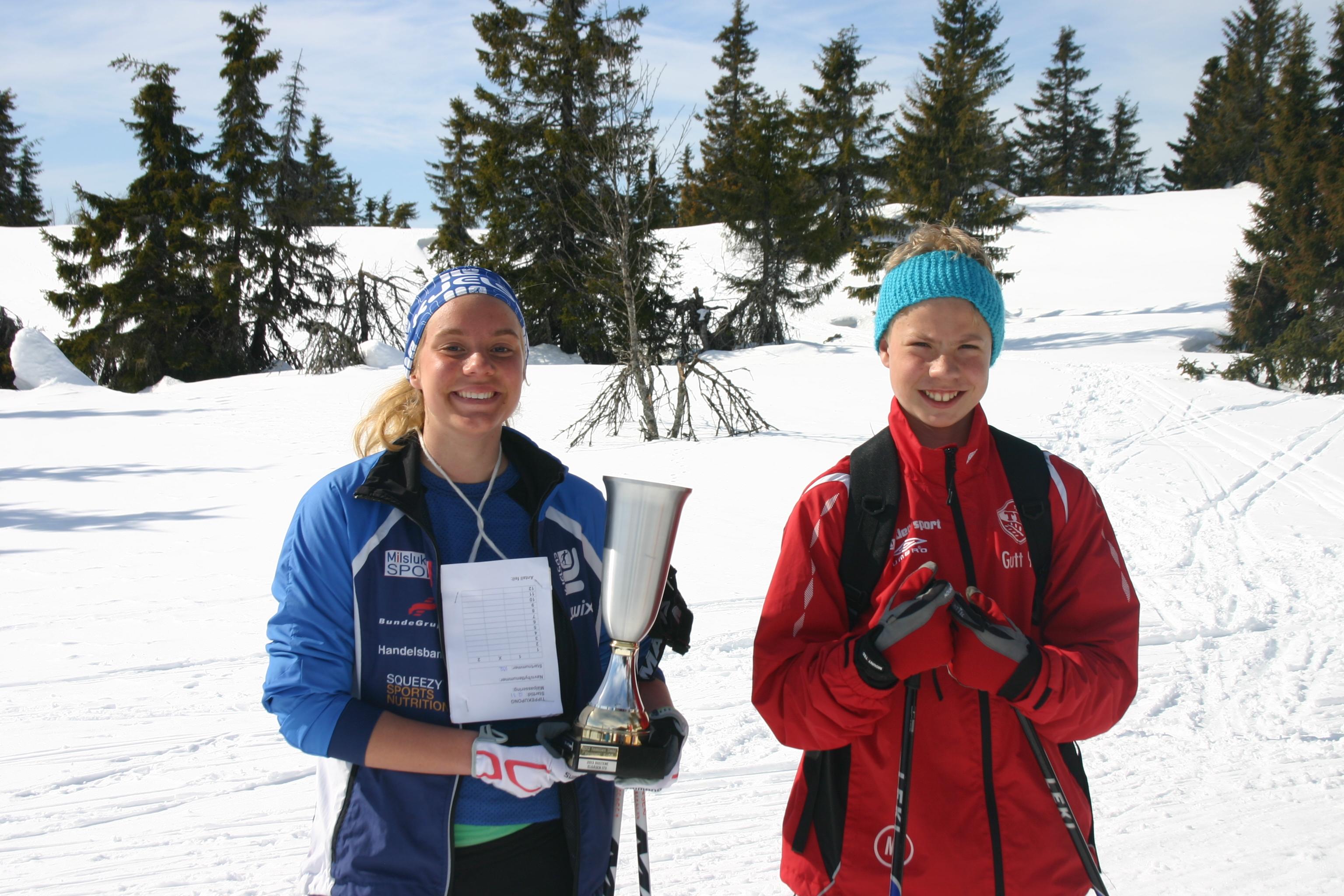 Fjorårets vinnere av påskeskirennet på Elgåasen. Foto: Mari Nymo Helli