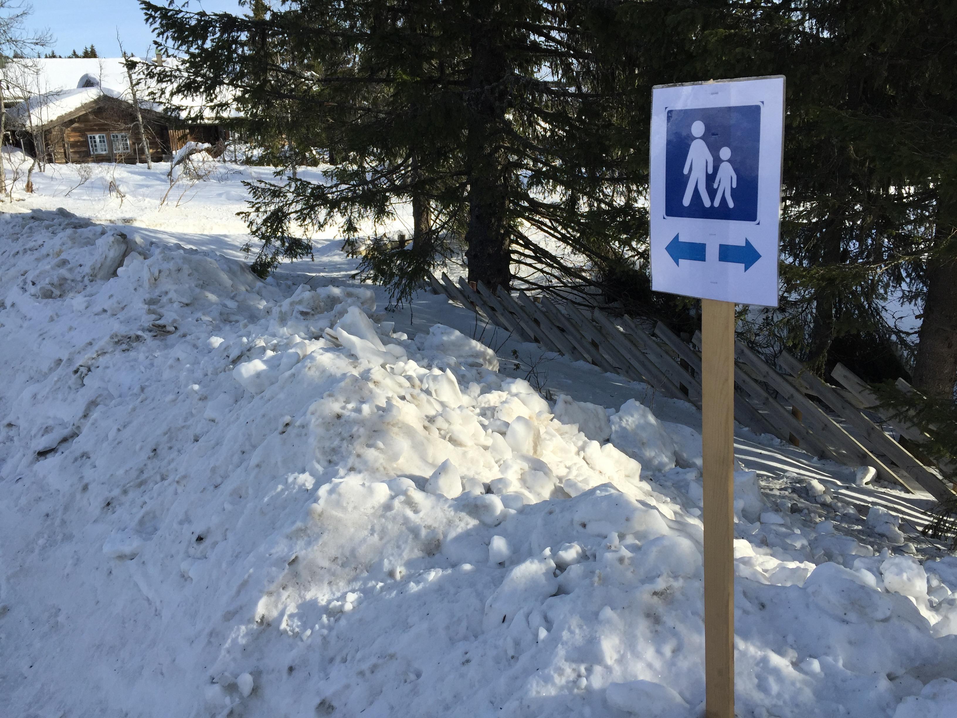 Stusselig gangvei å tilby turister på Sjusjøen